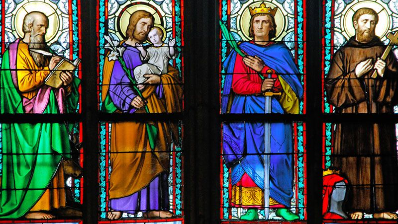 Cathedral of St. Vitus, Wenceslas and Adalbert - stained-glass windows
