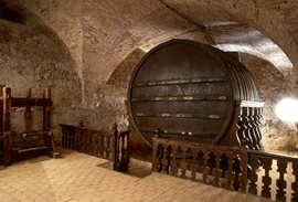 Giant wine cask at the Mikulov Chateau