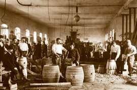 Coopers – historical photos from the Plzeň brewery