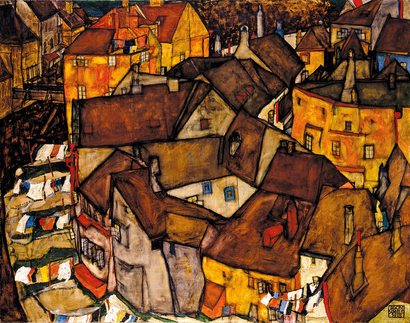 Český Krumlov became an inspiration for Egon Schiele's work