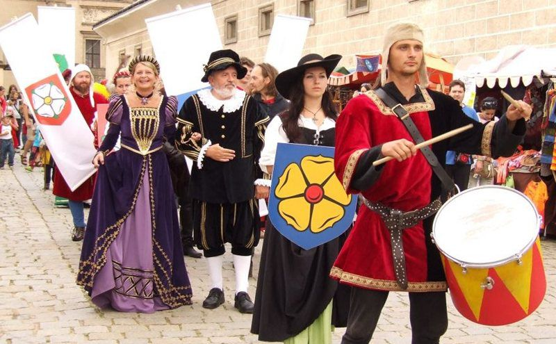 Historical celebrations in Telč, a city registered as a UNESCO site!