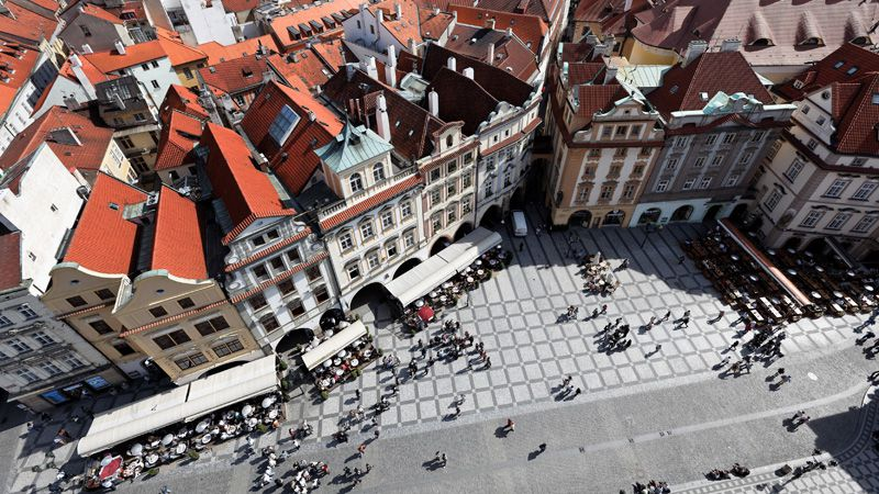 Old Town Square - view from the tower of the Old Town Hall