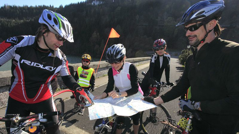 Cyclists in the Beskids