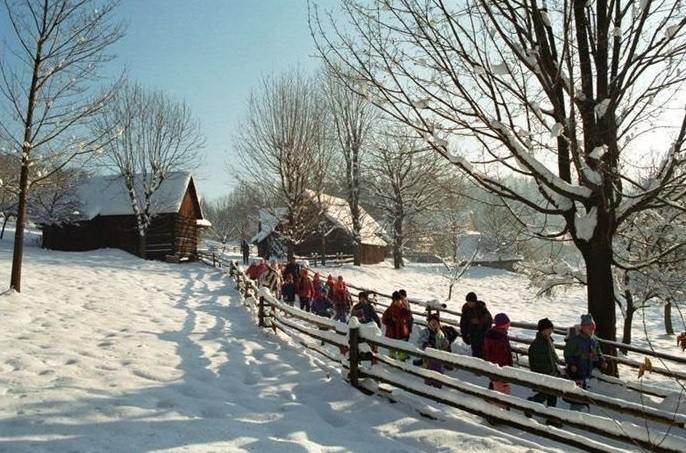 Visit the traditional Christmas fair in Rožnov pod Radhoštěm at the foot of the Beskydy Mountains.