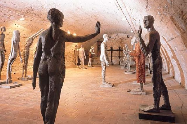 Sculptures by Olbram Zoubek in Litomyšl Chateau