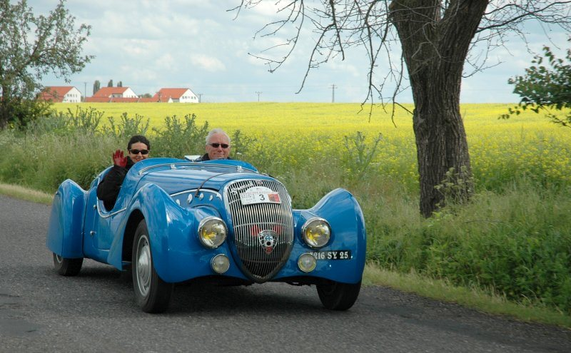 A graceful drive of vintage cars will crisscross the Czech Republic.