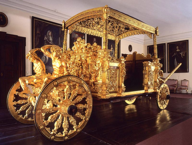 Český Krumlov - Golden Carriage in the chateau