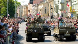 The annual Liberation Festival draws many city residents and interested tourists to the streets of Plzeň.