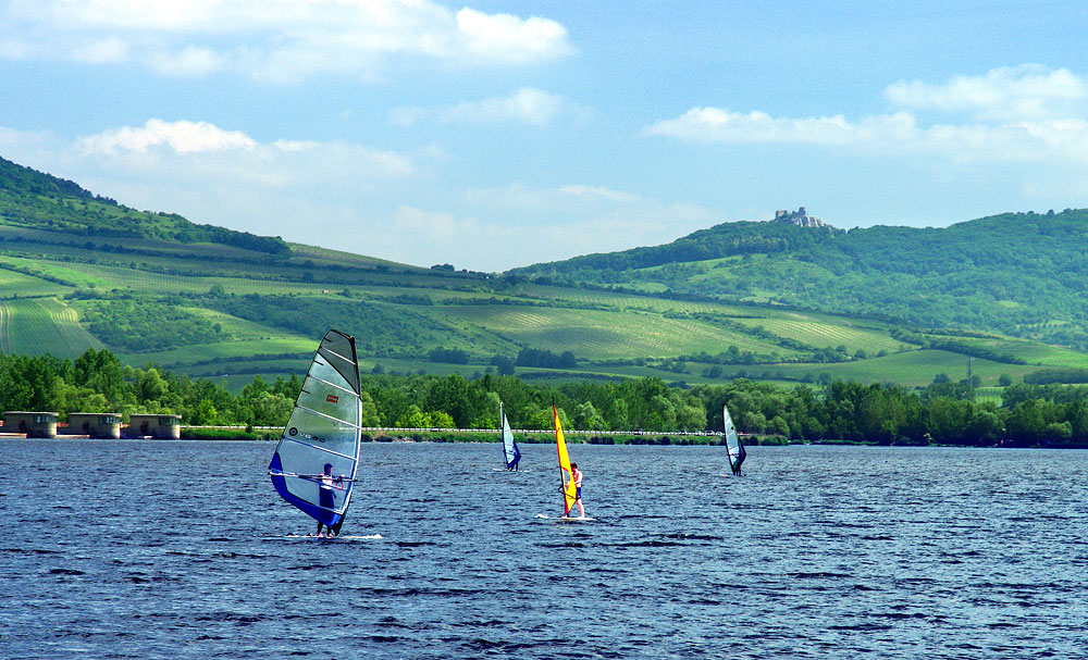 The Mušov Reservoir is paradise for surfers