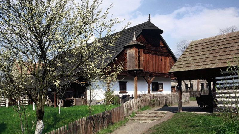 Open-air museum in Přerov nad Labem