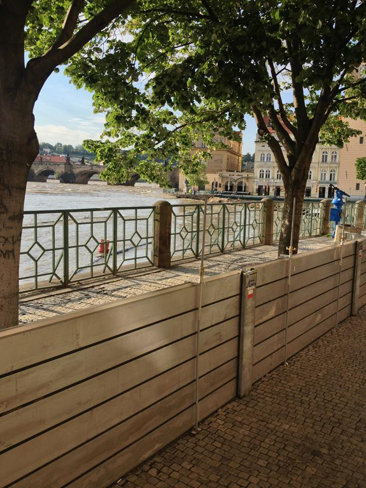 Unused flood barriers - the historical centre was not hurt (June 5, 2013 8 pm)