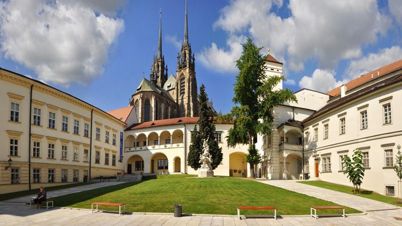 Brno - Bishop's Courtyard and the Cathedral of St. Paul and St. Peter
