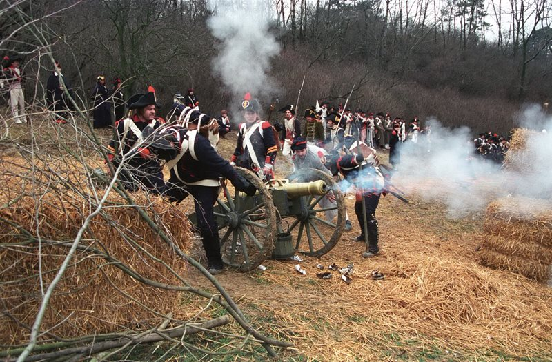 The Battle of Austerlitz is annually recalled in a reenactment and a tour of the château with Napoleon and Mass.