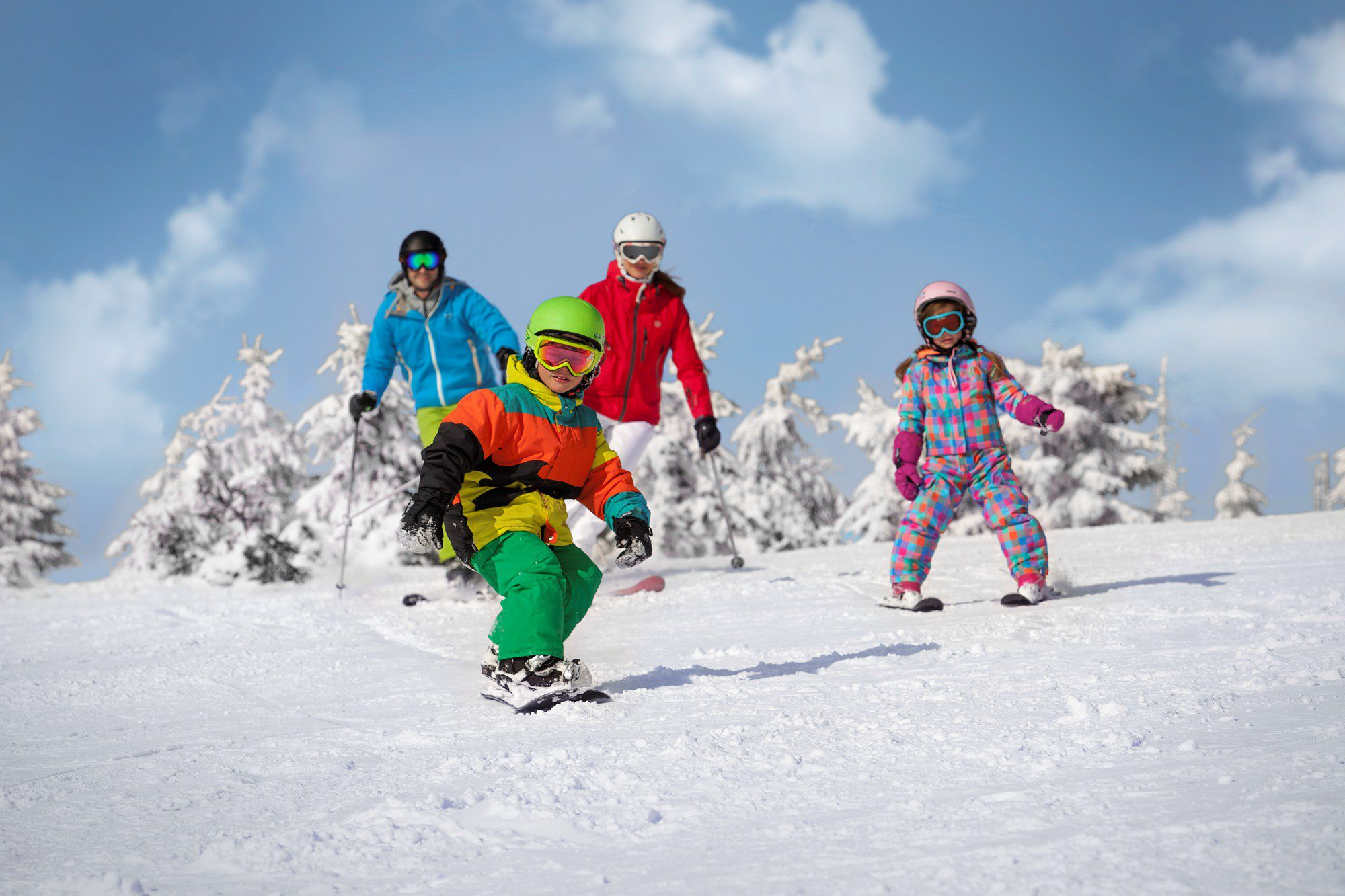 Combine skiing with spa and city life and try the newly built skiing trails