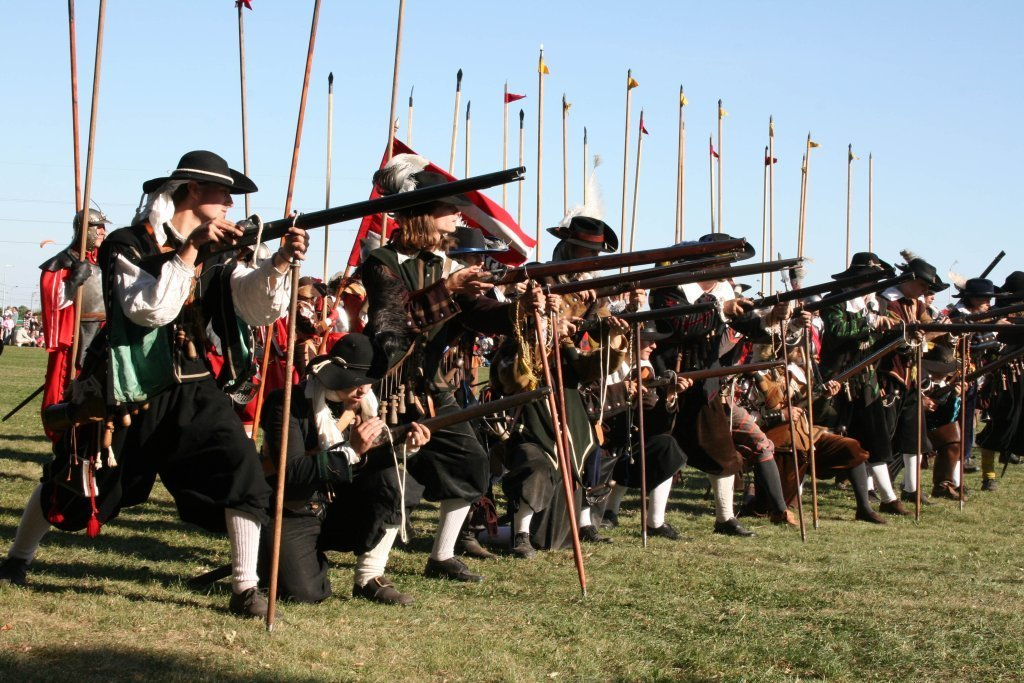 "During the reenactment of the battle of 1620, you will see hundreds of swordsmen ""in action""."