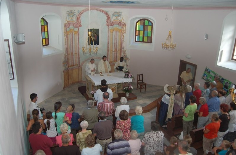In a remote village of Pekařov in the foothills of the Jeseník mountains a pilgrimage is held on the occasion of the feast of the Assumption of the Virgin Mary.