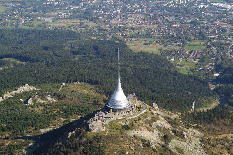 Television transmitter on Ještěd Mountain