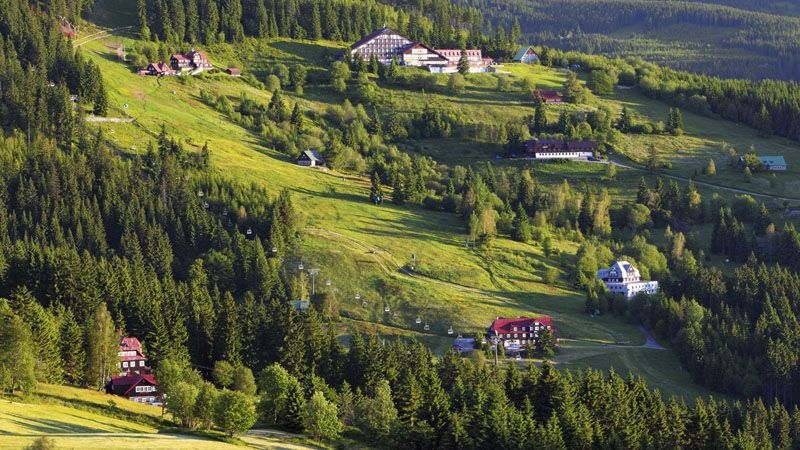 Mountain chalets in the Krkonoše Mountains