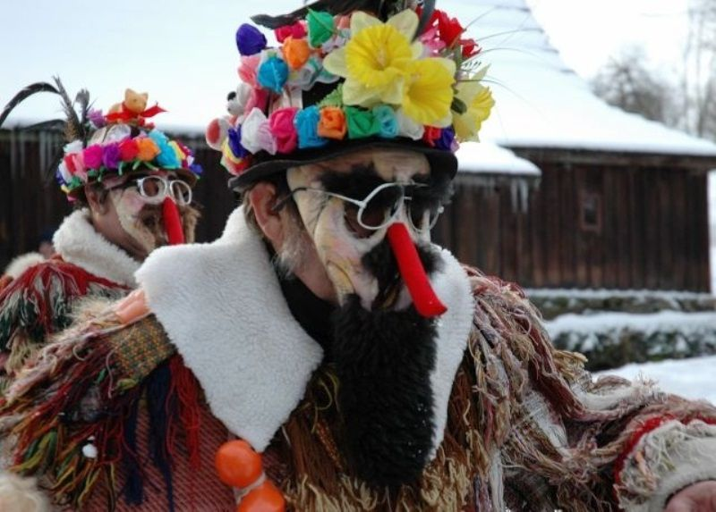 A whirl of carnival masks will be on the prowl at the open-air museum in Veselý Kopec, registered by UNESCO.
