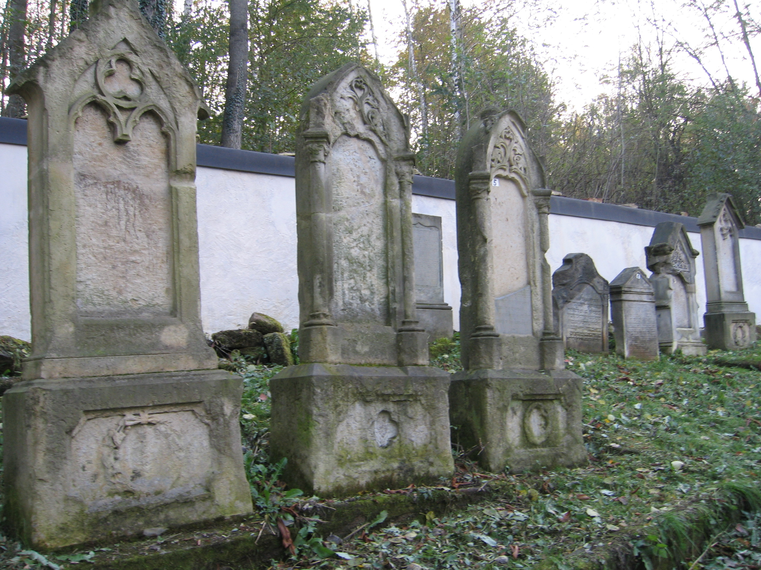 The forest Jewish cemetery in Úštěk