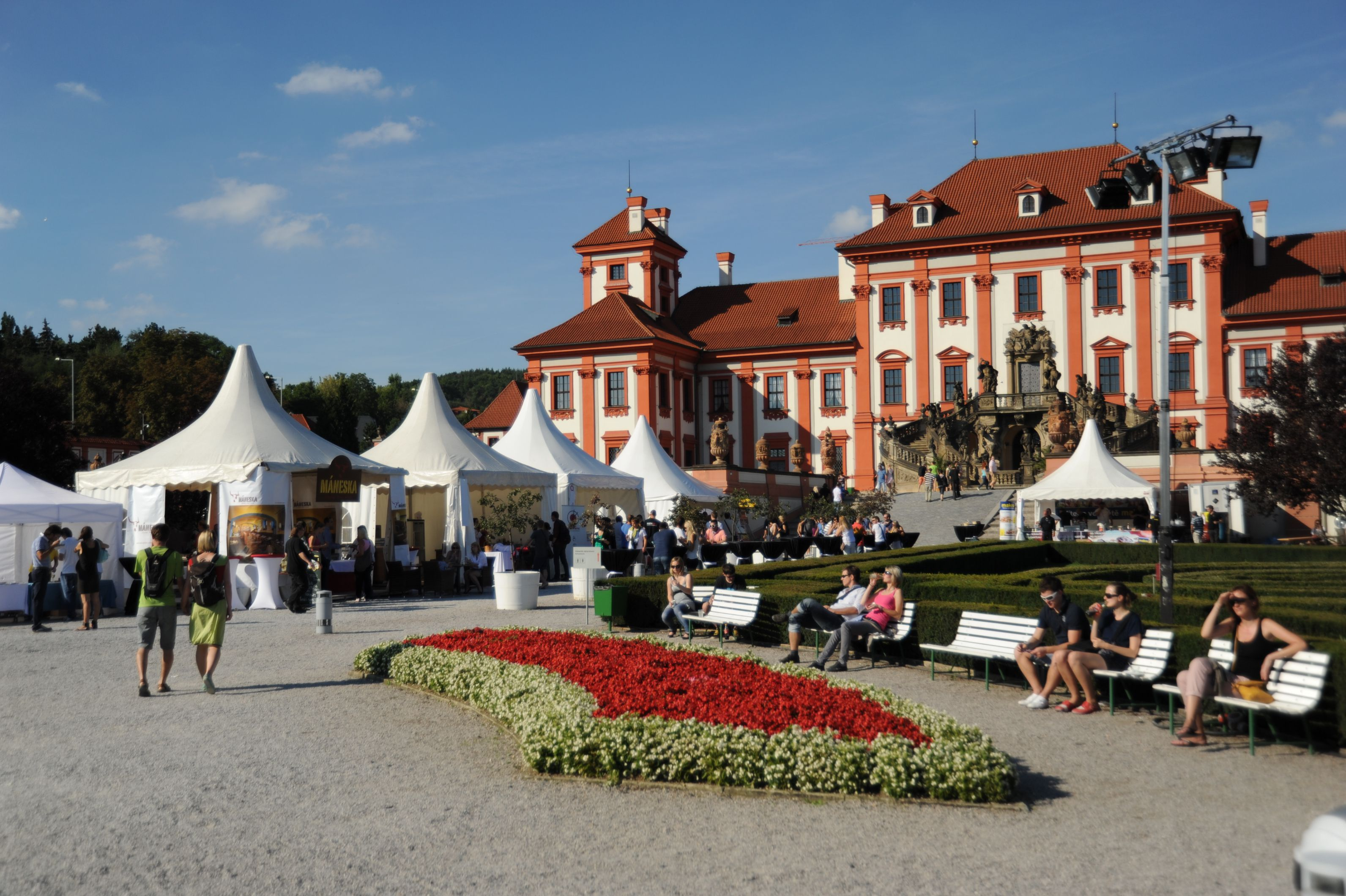 Enjoy a festival of food and drink in the lovely gardens of the Baroque château Troja.