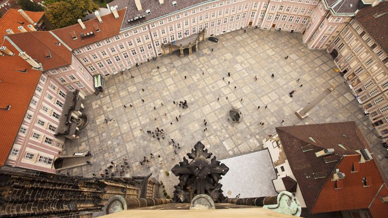 Cathedral of St. Vitus, Wenceslas and Adalbert - view from the tower