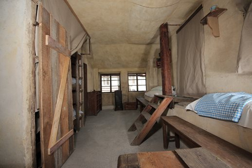 Prayer room from the Terezín ghetto period and replica of attic