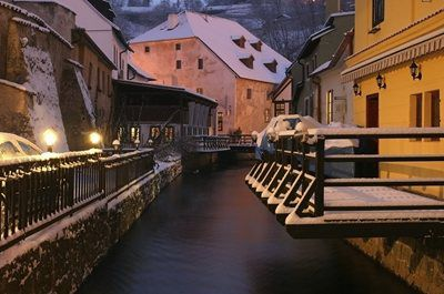 Český Krumlov has become the site of an epic advertisement for Guinness beer