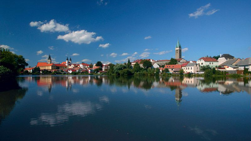 Telč - panorama of the town