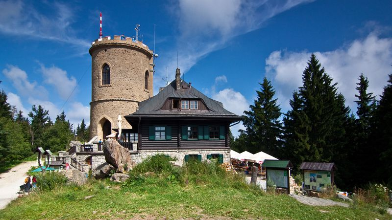 Kleť - lookout tower