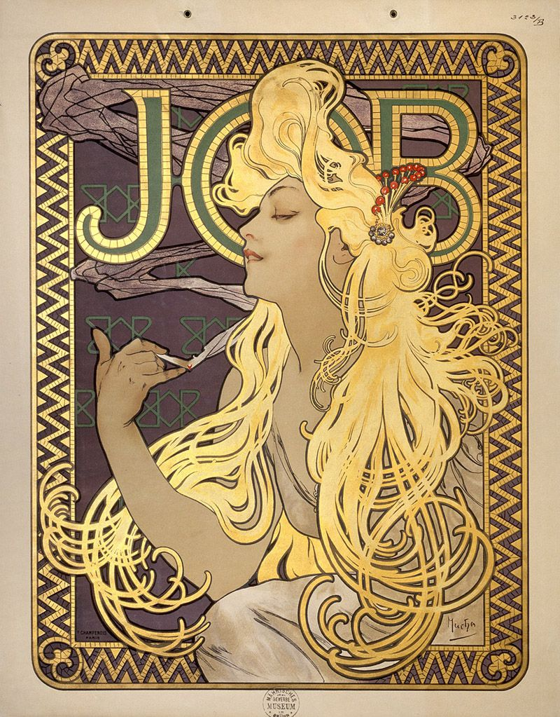 Work by Alphonse Mucha