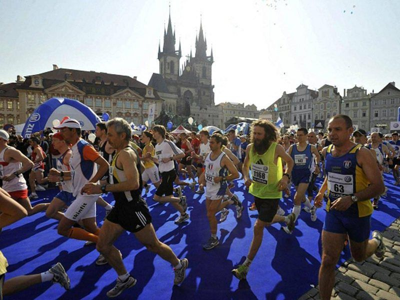 La course Sportisimo 1/2 Maraton à Prague