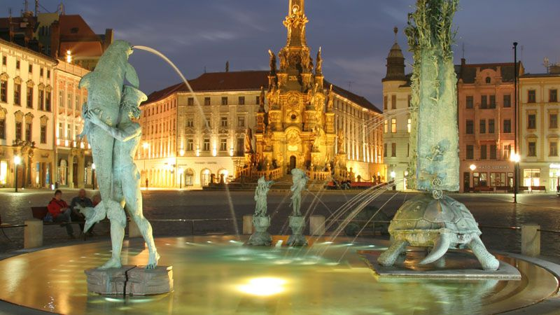 Olomouc fountains