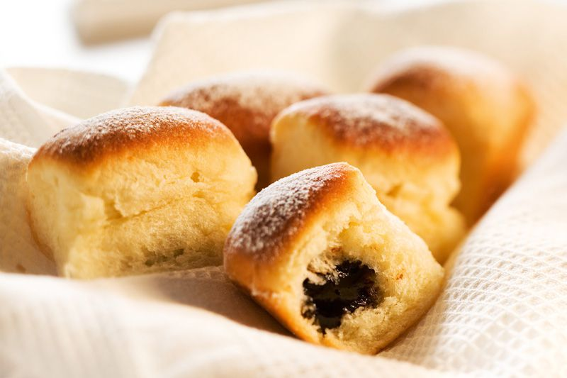 Czech buns with jam