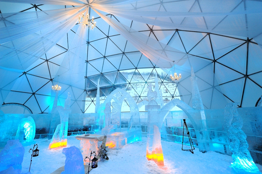 Visit the unique ice temple during your winter holiday
