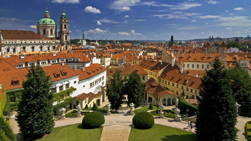 Prague - les jardins Vrtbov