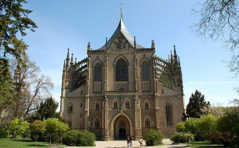 O Templo de Santa Bárbara em Kutná Hora