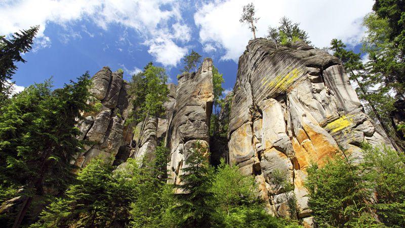 Les environs d'Adršpach - les rochers de Teplice