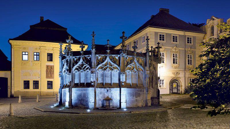 Kutná Hora - la fontaine de pierre