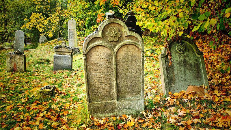 Рабштейн над Стржелоу - еврейское кладбище