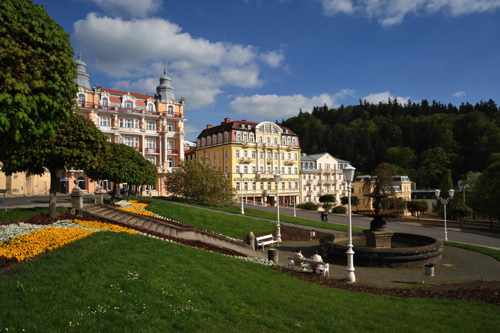 The square Goethovo náměstí in Mariánské Lázně