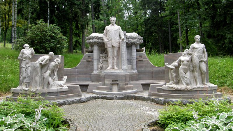 Jeseník - Priessnitz Monument