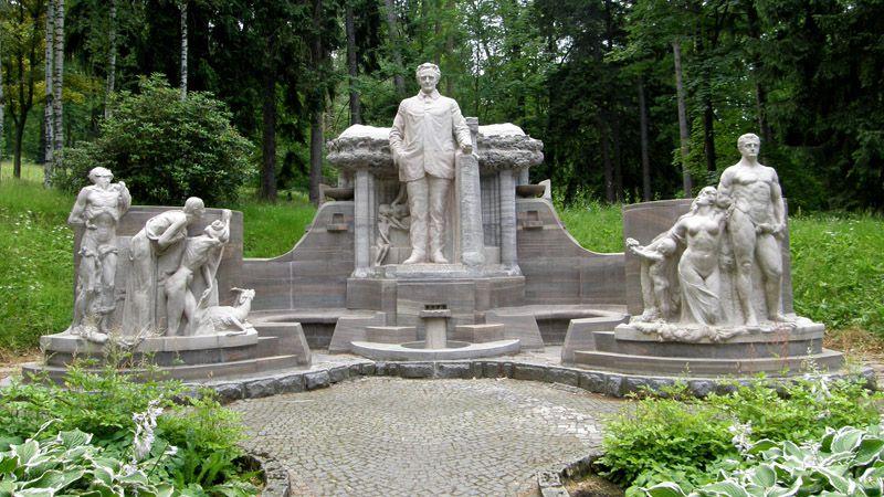 Jesenik - pomnik Priessnitza