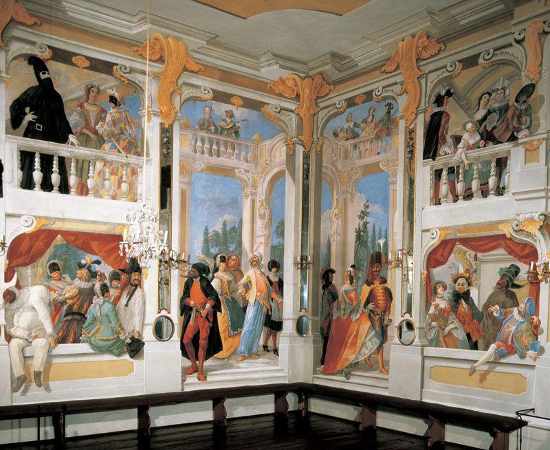 Český Krumlov - Masquerade Hall in the chateau