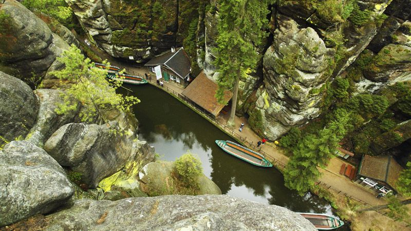 Bohemian Switzerland - Boat trip through the gorges