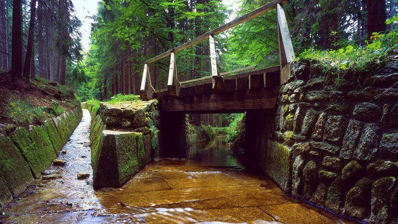 Le massif de la Šumava - le canal Schwarzenberg