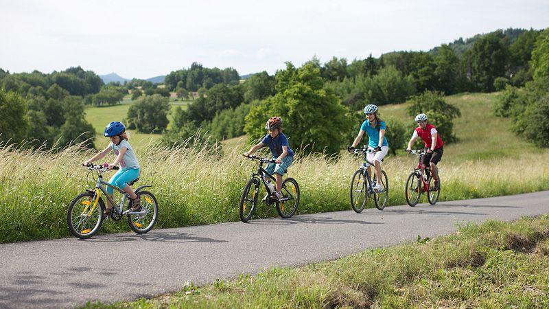 Cyclotourisme en famille