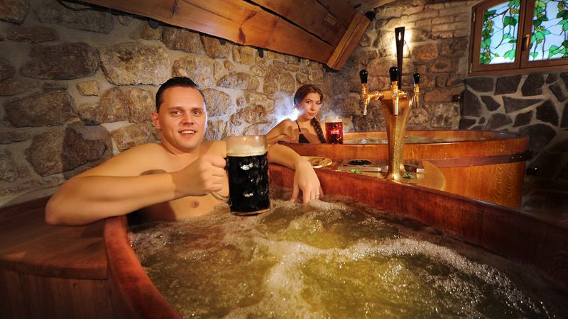 Beer and wine spas
