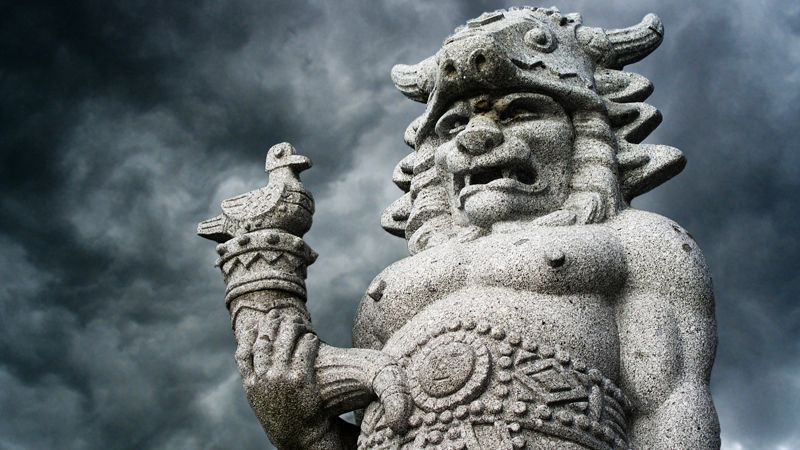 Radhošť - statue of Radegast