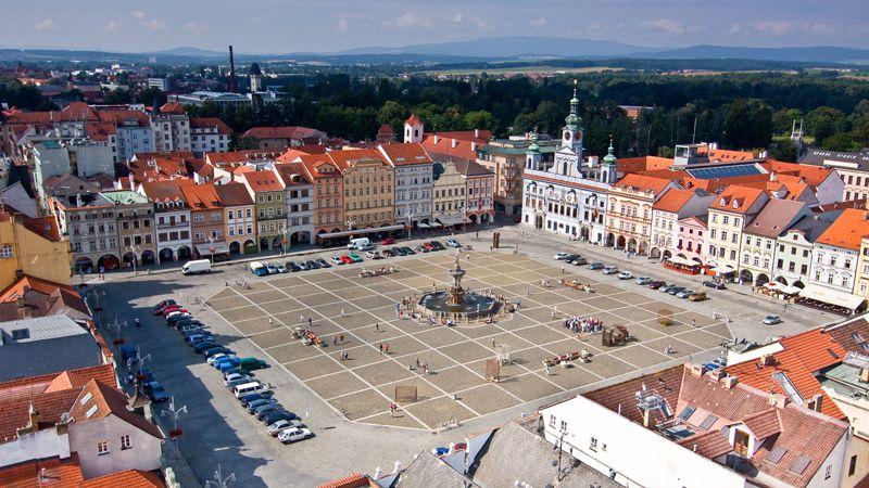 Czeskie Budziejowice – rynek Przemysła Otokara II
